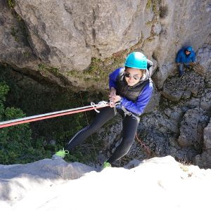 Rappelling during event in Nice