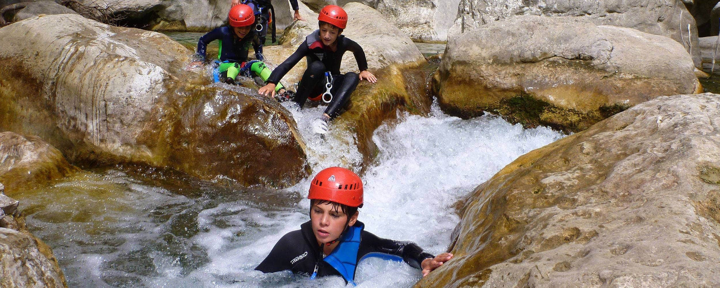 Canyoning Gorges du Loup with kids