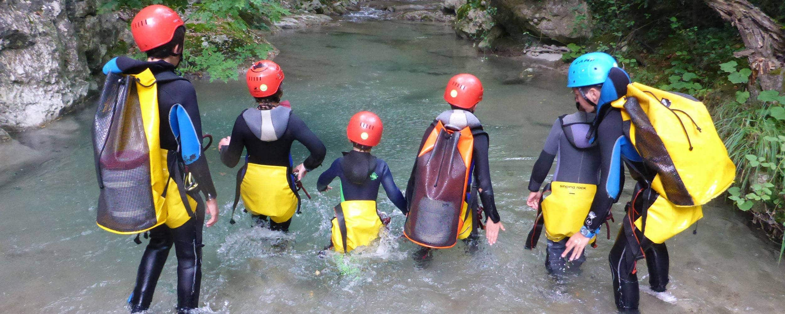 Kids Group Canyoning Loup Grasse Vence