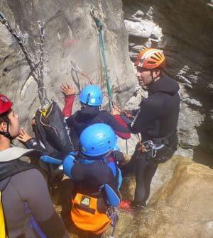 Rappelling canyon Barbaira - Rocchetta Nervina
