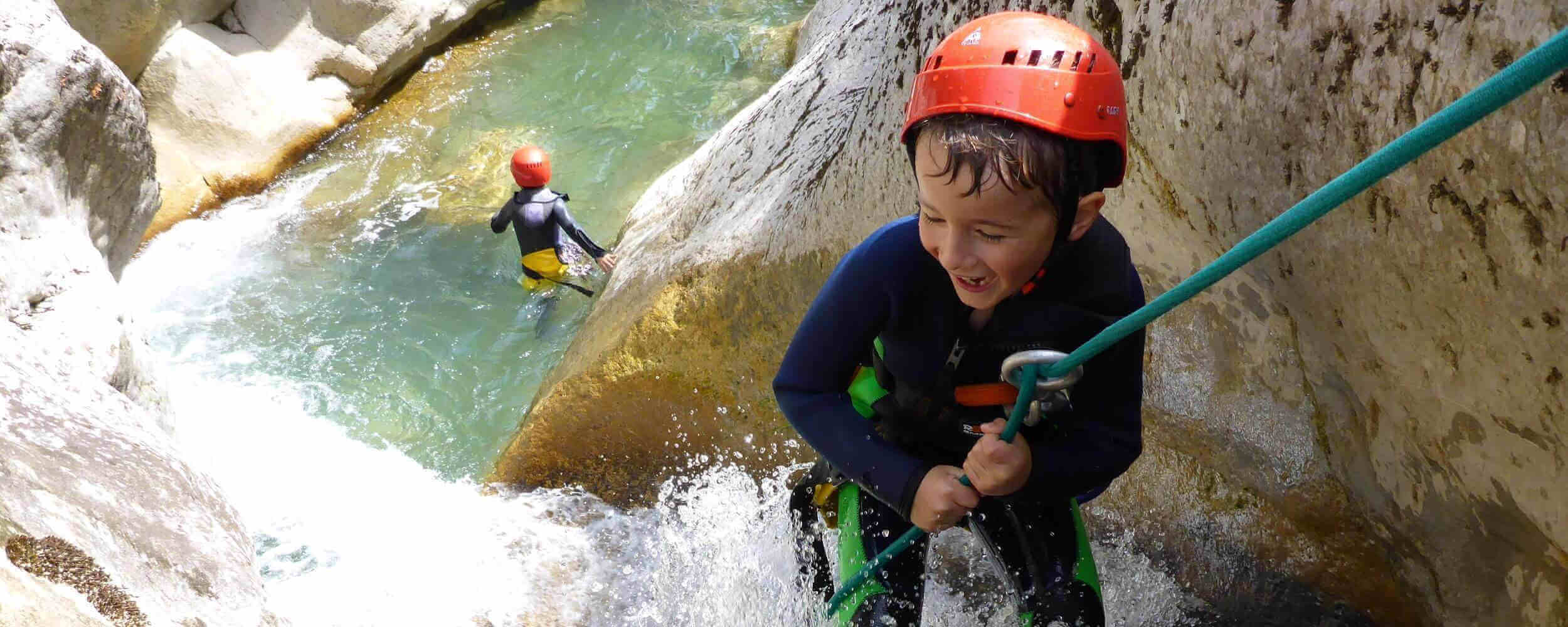 Rappelling canyoning Loup - Grasse Vence