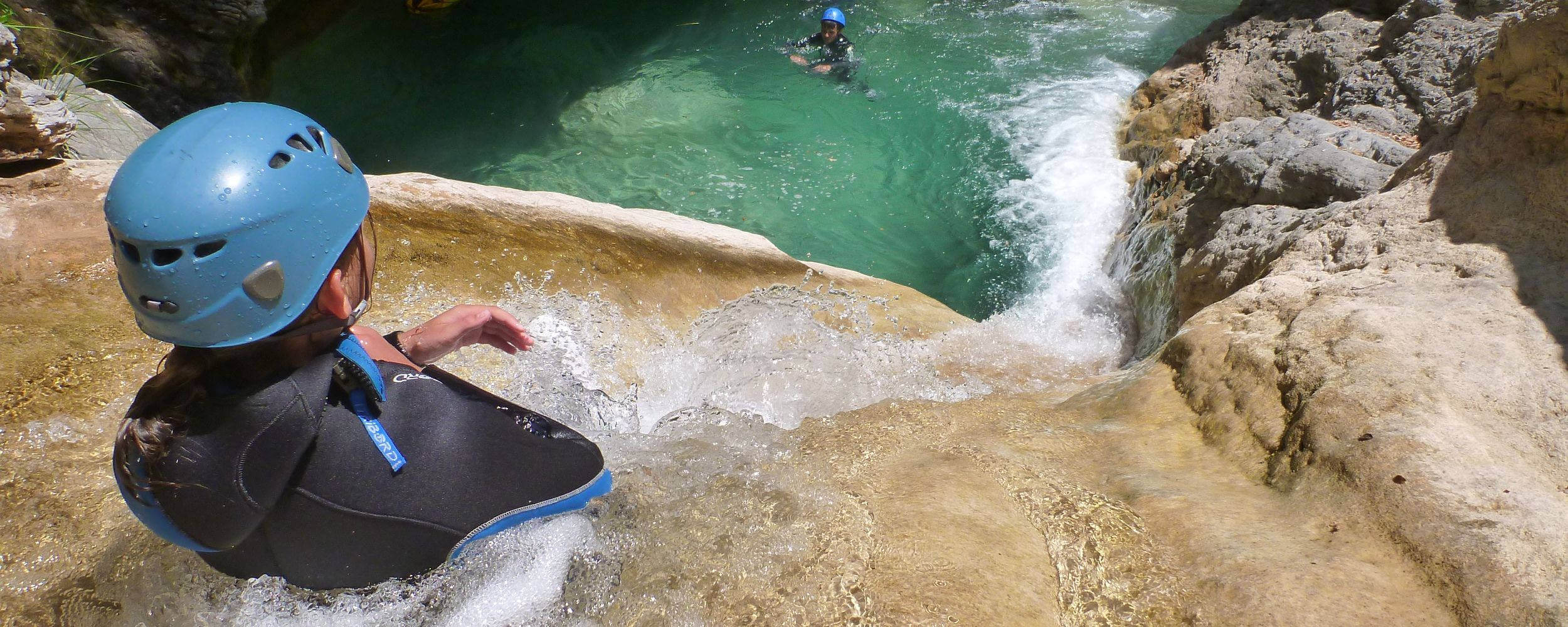 Slide in canyoning Barbaira - Italy