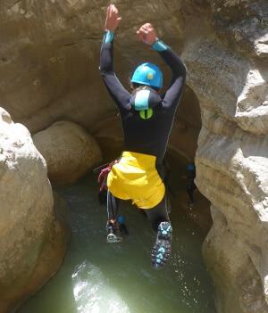 Water jump canyoning of Riolan - Esteron