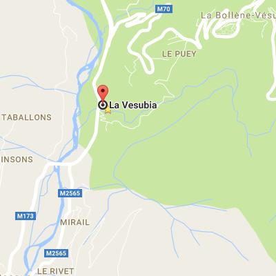 Google Map canyoning Lesgeckos - Bollene