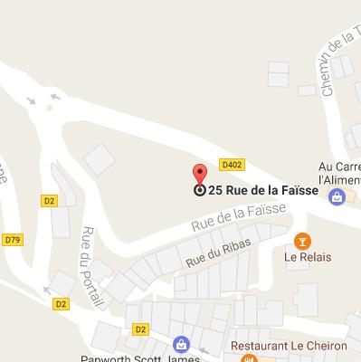 Google Map canyoning Lesgeckos - Gours du Ray