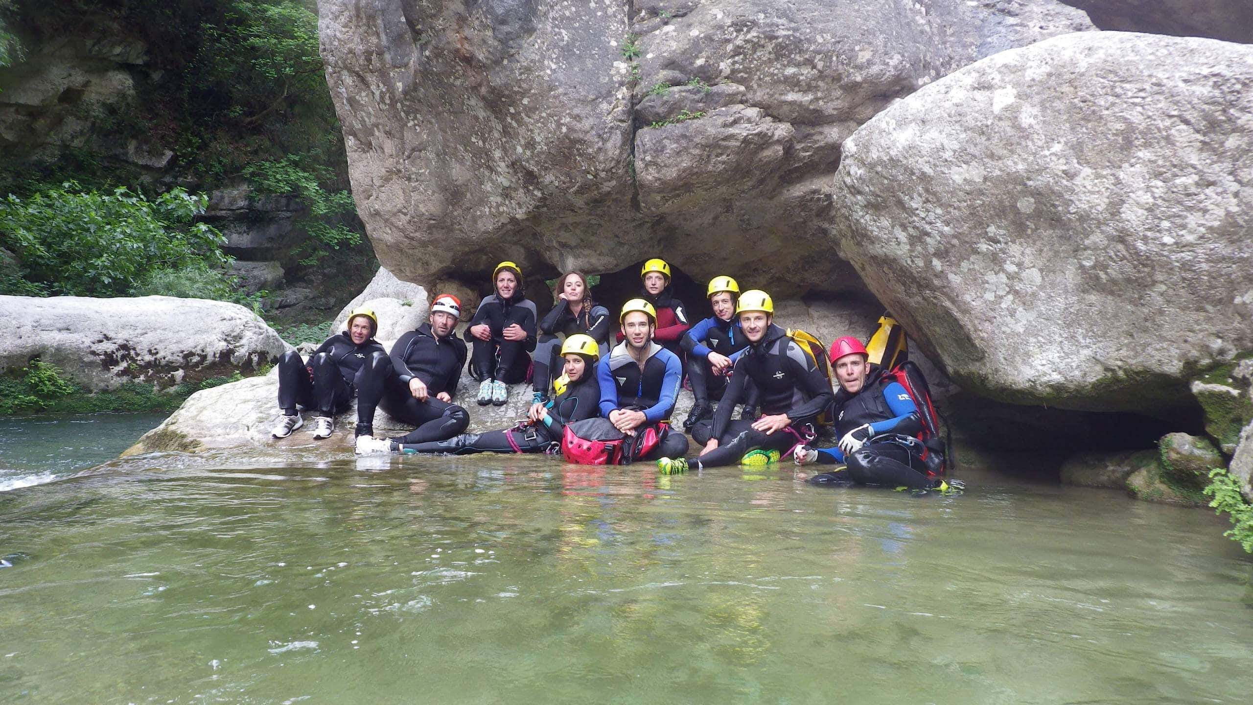 Canyoning In The Gorges Du Loup
