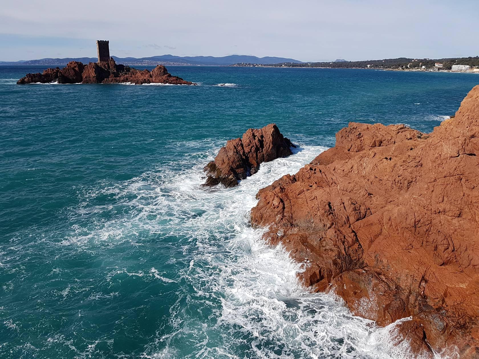 Via Cordata of the Cap Dramont - Saint Raphael - Esterel Cote d'Azur